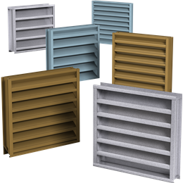 Louvers Estacionarios